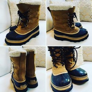 SOREL Caribou Men's Boots Sz 9M EUC Clean L👀K